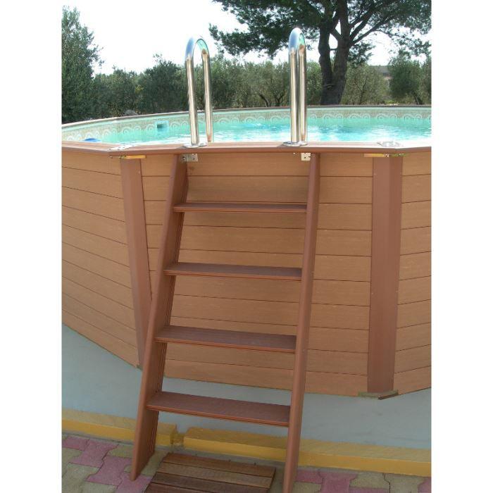 Escalier ext rieur 4 marches en bois composite achat for Marche escalier exterieur jardin