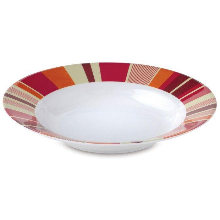 assiette soupe 23 cm summer stripes prix pas cher cdiscount. Black Bedroom Furniture Sets. Home Design Ideas