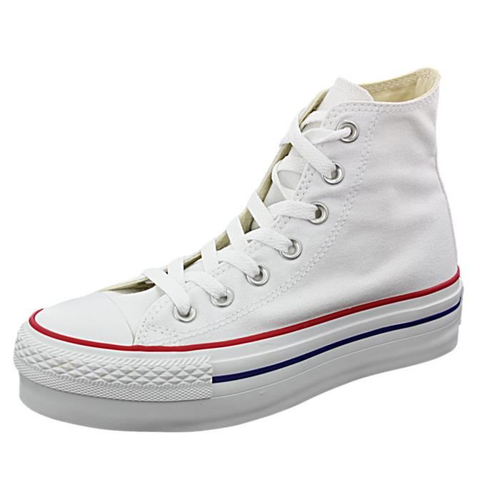 converse plate forme blanche