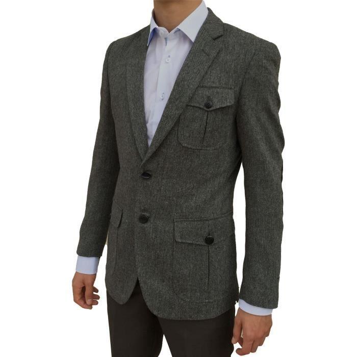 veste de costume homme gris vit gris achat vente veste cdiscount. Black Bedroom Furniture Sets. Home Design Ideas
