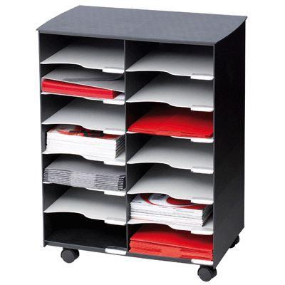 desserte noire 14 cases achat vente caisson de bureau. Black Bedroom Furniture Sets. Home Design Ideas