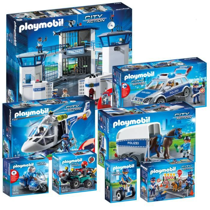 camion police playmobil pas cher. Black Bedroom Furniture Sets. Home Design Ideas