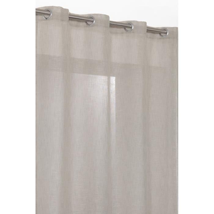 rideau voilage grande hauteur en effet lin 140x achat vente rideau lin polyester cdiscount. Black Bedroom Furniture Sets. Home Design Ideas