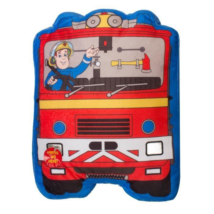 Coussin camion sam le pompier avec gyrophare lumineux 28 - Sam le camion de pompier ...
