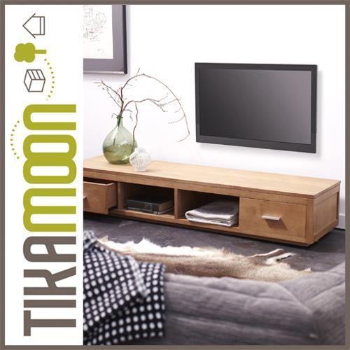 Meuble t l en ch ne 170 natura achat vente meuble tv meuble t l en ch n - Meuble tele en chene ...
