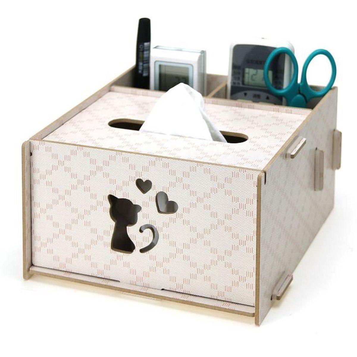 Bo te mouchoirs en bois distributeur de papier tissu bo for Boite a mouchoirs maison