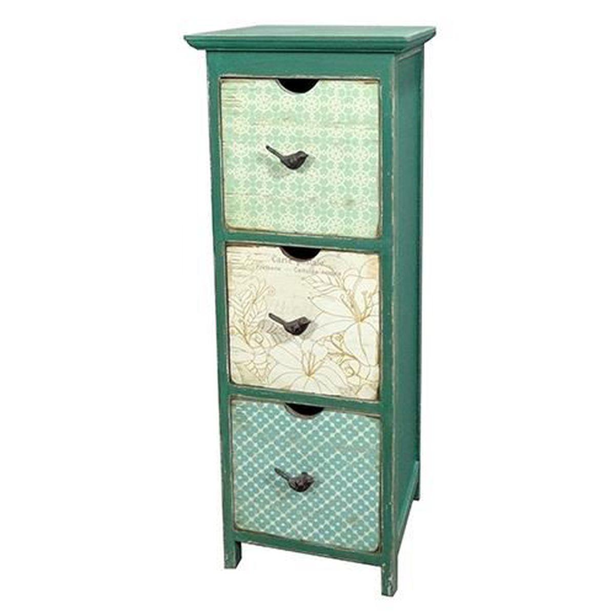 Commode vert papier peint hl160149 achat vente for Papier peint sur meuble