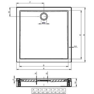receveur douche 150x80 achat vente receveur douche 150x80 pas cher cdiscount. Black Bedroom Furniture Sets. Home Design Ideas