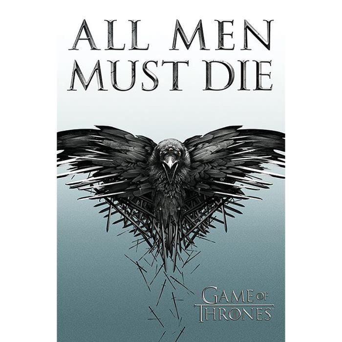 Poster game of thrones all men must die achat vente for Decoration murale game of thrones