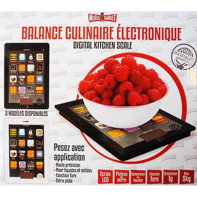 Balance de cuisine electronique style tablette tac achat for Tablette cuisine