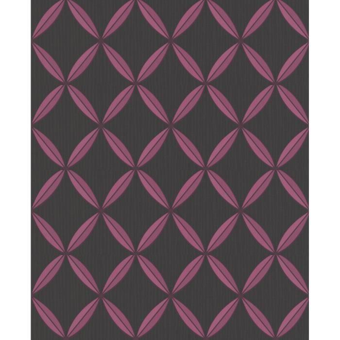 papier peint expans intiss g om trique noir et rose 52cm. Black Bedroom Furniture Sets. Home Design Ideas
