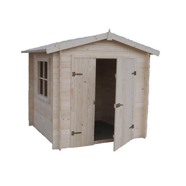 Abri de jardin en bois de sapin 3 80 m2 achat vente abri jardin chalet abri de jardin en for Abri de jardin en bois destockage