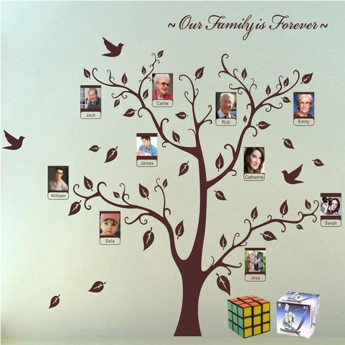 mce photo de famille arbre cadre l gant cr ative diy stickers un rubik 39 s cube gratuit achat. Black Bedroom Furniture Sets. Home Design Ideas