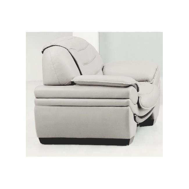 Fauteuil 1 place en cuir italien benson achat vente fauteuil cdiscount - Fauteuil cuir italien ...