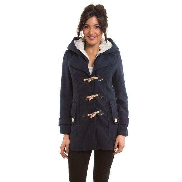 Manteau duffle coat femme bleu marine