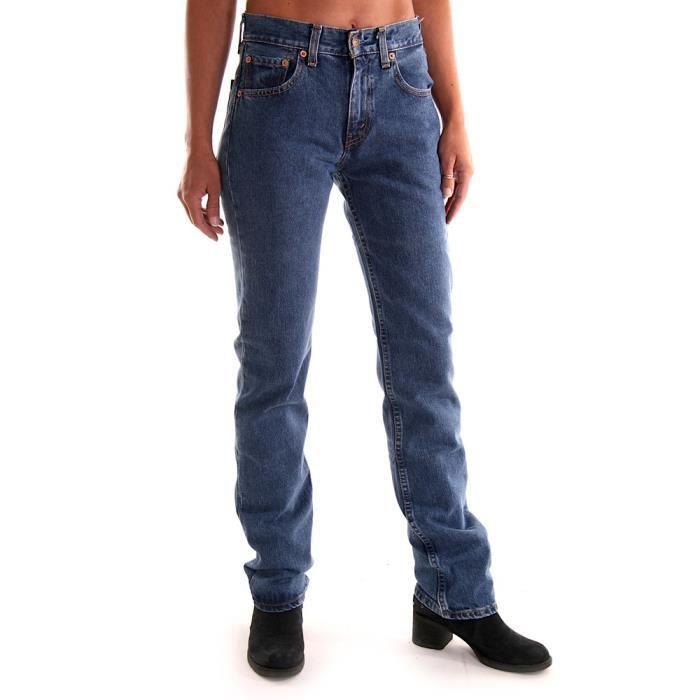 jeans levis 595 bleu femme coupe achat vente jeans. Black Bedroom Furniture Sets. Home Design Ideas