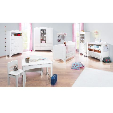 Chambre b b blanche l 39 essuy best of massif achat for Achat chambre bebe