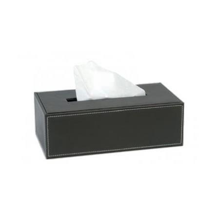 Bo te mouchoirs design pu marron achat vente for Boite a mouchoirs maison