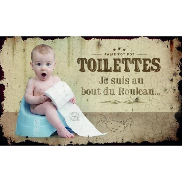 Plaque de porte toilettes class d co achat vente for Enseigne salle de bain