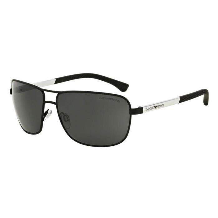 lunette de soleil emporio armani 2033 3094 87 64 3n gris achat vente lunettes de soleil. Black Bedroom Furniture Sets. Home Design Ideas