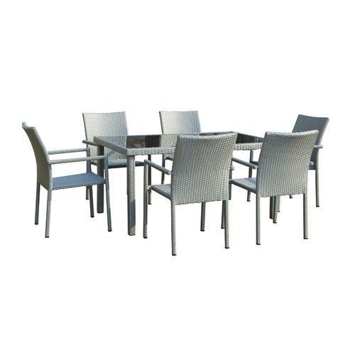 Table de jardin ubud r sine tress e gris achat for Table jardin resine gris