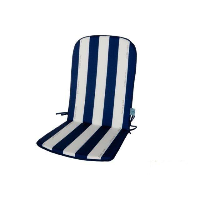 Lot de 2 coussins haut dossier pour fauteuil cancale bleu - Coussin pour mobilier de jardin ...