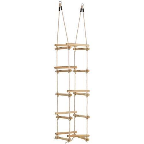chelle de corde en bois et 4 c t s achat vente. Black Bedroom Furniture Sets. Home Design Ideas