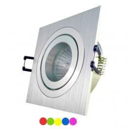 kit spot encastrable led carr 4w gu10 230v rgb achat vente spots ligne de spots aluminium. Black Bedroom Furniture Sets. Home Design Ideas