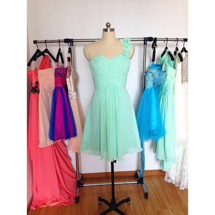 mousseline verte courte robe de soir e robe de cocktail robe maxi robe de demoiselle d. Black Bedroom Furniture Sets. Home Design Ideas