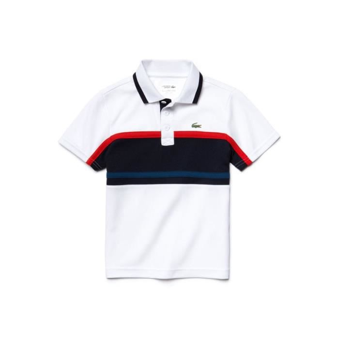 ab726d75af polo lacoste junior,polo lacoste junior yj3532 j85 white etna red ...