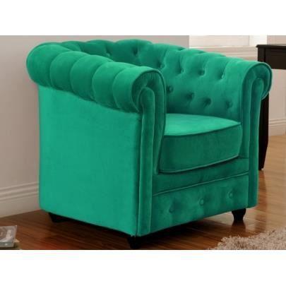 fauteuil en velours chesterfield vert meraude achat. Black Bedroom Furniture Sets. Home Design Ideas