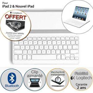 CLAVIER POUR TABLETTE Logitech coque clavier pour iPad - Ultrathin Blanc