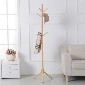 porte manteau sur pied bois achat vente porte manteau sur pied bois pas cher cdiscount. Black Bedroom Furniture Sets. Home Design Ideas