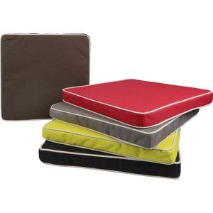 galette de chaise d ext rieur 40x40 cm couleur rouge gamme oxford achat vente coussin de. Black Bedroom Furniture Sets. Home Design Ideas