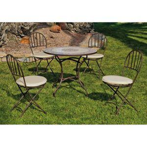 Table pliable avec chaises achat vente table pliable for Set table jardin
