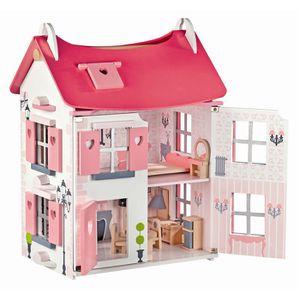 MAISON POUPÉE Maison de Poupée Mademoiselle + 15 accessoires
