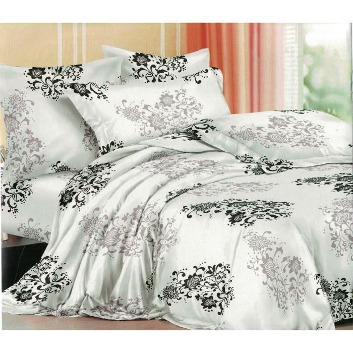 Parure de drap 2 personnes 4 pi ces parure de lit achat vente parure de d - Cdiscount parure de lit ...