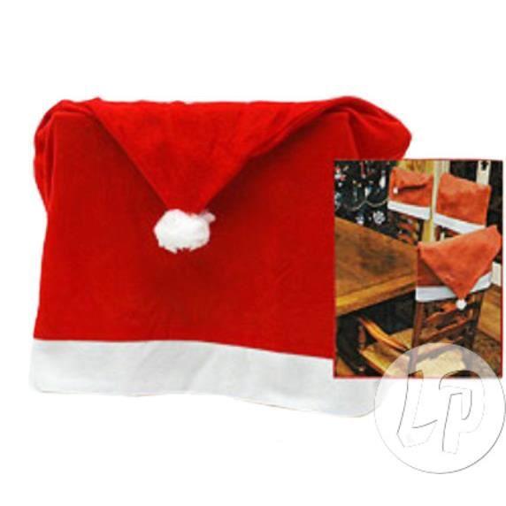Lot de 12 lot de 4 housses de chaises no l rouge achat - Lot housse de chaise ...