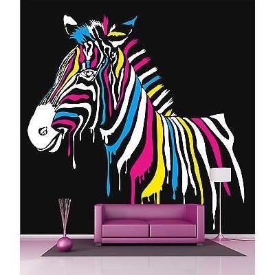 Papier peint g ant d coration murale zebre mult achat for Deco murale zebre