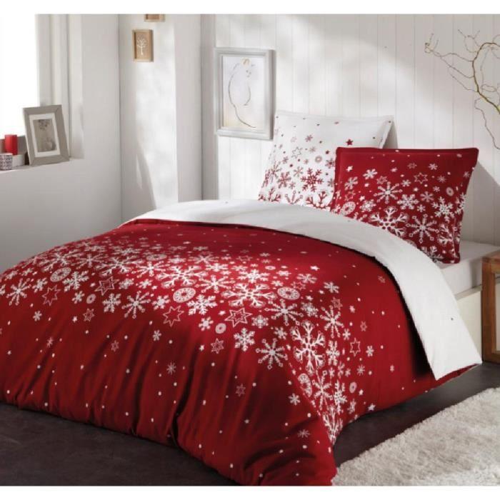 parure housse de couette 100 coton flanelle voie lact e 200x200 cm 2 taies d 39 oreiller 65x65. Black Bedroom Furniture Sets. Home Design Ideas