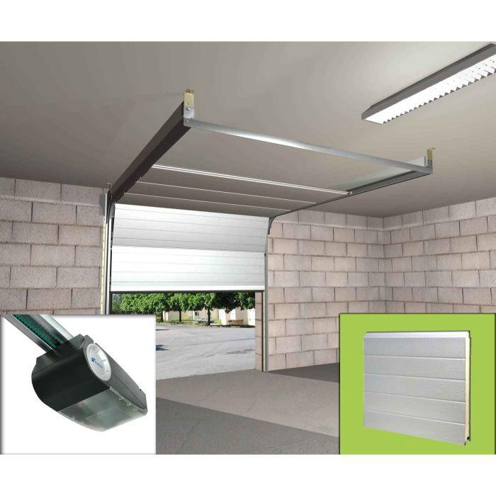 Ensemble porte sectionnelle motorisee panneaux achat for Porte de garage sectionnelle 2125 x 2400