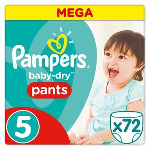 COUCHE PAMPERS Baby Dry Pants Taille 5 - 12 à 18kg - 72 c