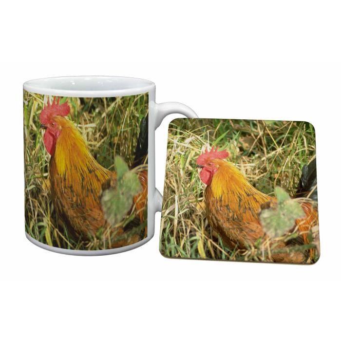 poule de paille tasse et russes animaux cadeau de no l cadeau achat vente bol mug. Black Bedroom Furniture Sets. Home Design Ideas