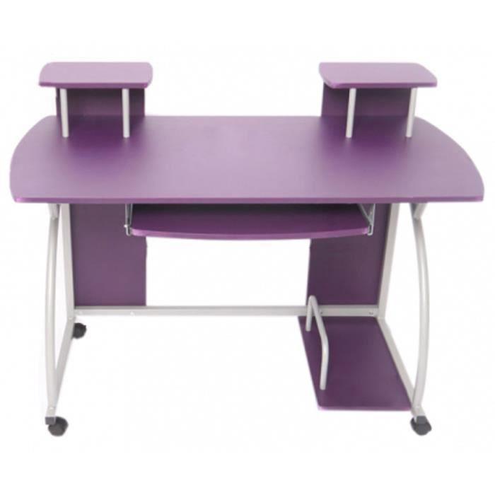 table de bureau jeunesse ohio violet dim h90 x l115 x p55 cm achat vente bureau table de. Black Bedroom Furniture Sets. Home Design Ideas