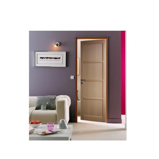 bloc porte en hetre 4 panneaux huisserie de 72 largeur 93 cm poussant gauche achat vente. Black Bedroom Furniture Sets. Home Design Ideas