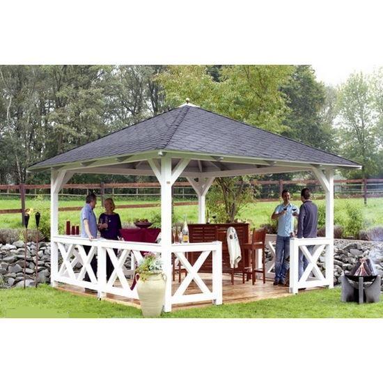 pavillon de jardin en bois cannes epaisseur pot achat vente abri jardin chalet pavillon. Black Bedroom Furniture Sets. Home Design Ideas