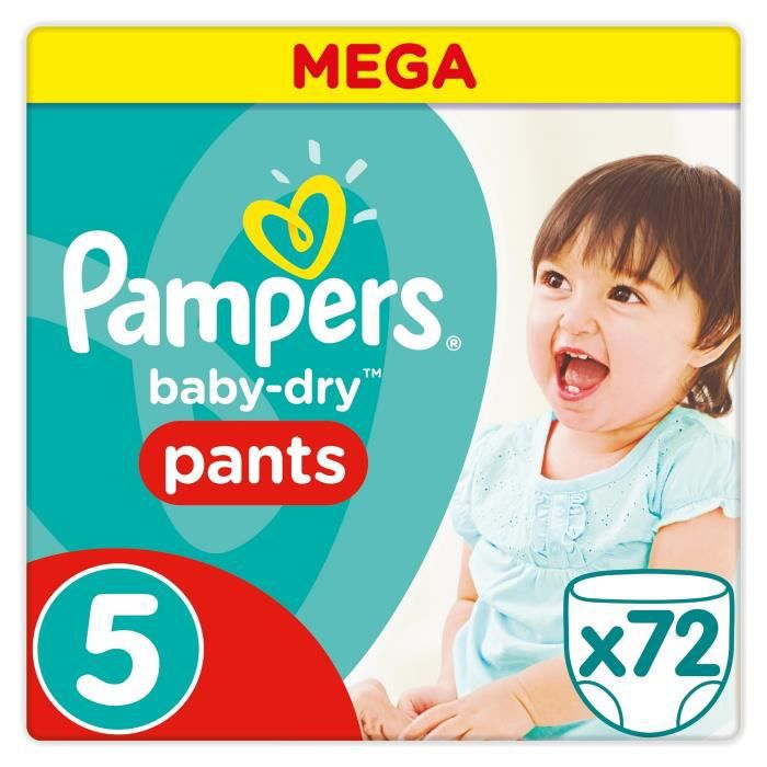pampers baby dry pants taille 5 12 18kg 72 couches. Black Bedroom Furniture Sets. Home Design Ideas
