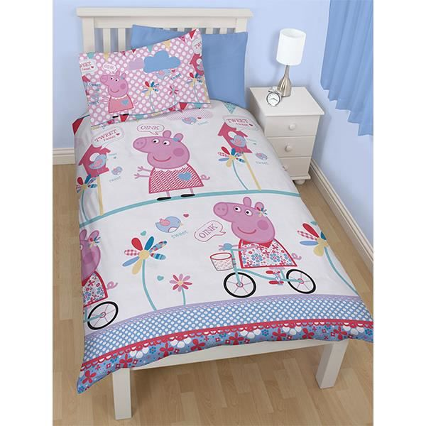 housse de couette taie peppa pig achat vente housse. Black Bedroom Furniture Sets. Home Design Ideas