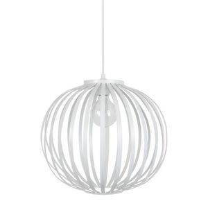 DAVOS Lustre - suspension lamelles forme boule blanche ?36 cm E27 40W