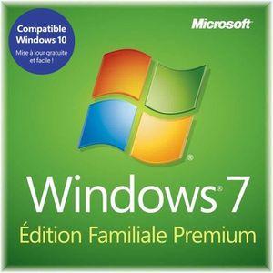 SYSTÊME D'EXPLOITATION Windows 7 Edition Familiale Premium 32 bits OEM